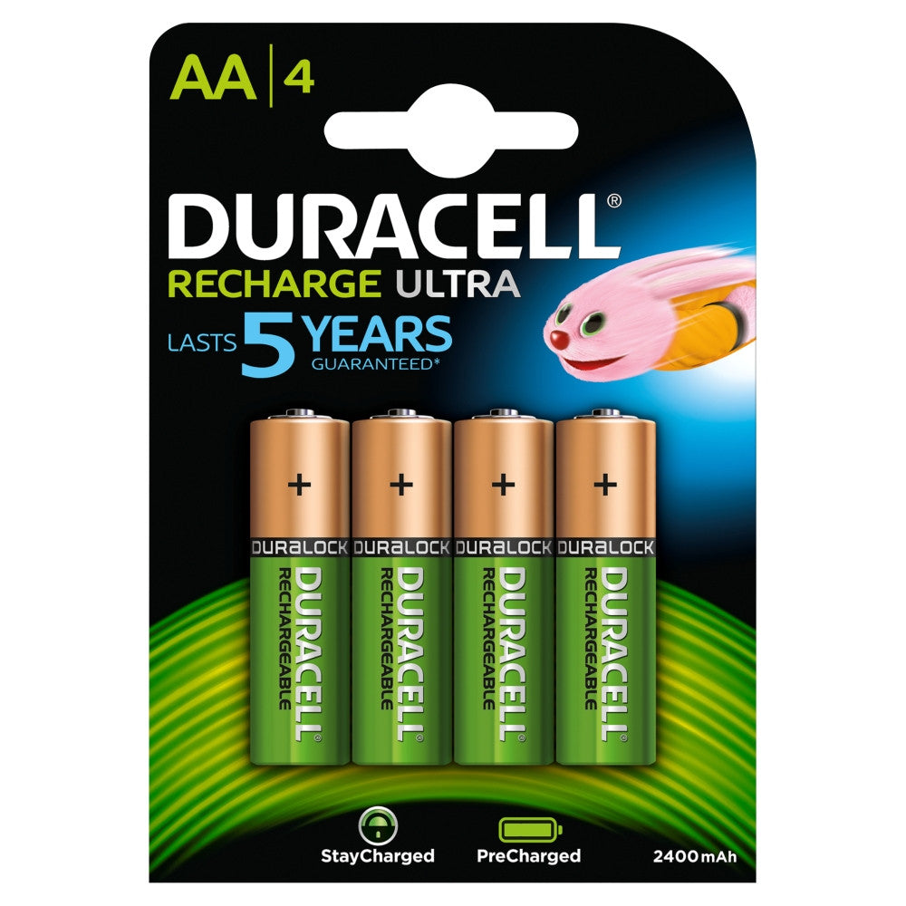 Duracell AA 2500mAh Ready To Use Rechargeable Battery - Pack of 4 - Battery Warehouse UK | Free UK Delivery on all Orders