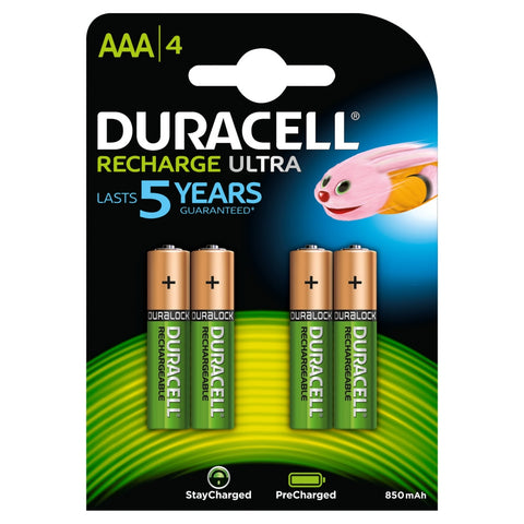 Duracell AAA 850mAh Ready To Use Rechargeable Battery - Pack of 4