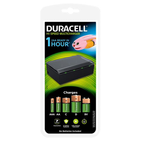 Duracell 1 Hour Hi-Speed Multi-Battery Charger | CEF22 - Battery Warehouse UK | Free UK Delivery on all Orders