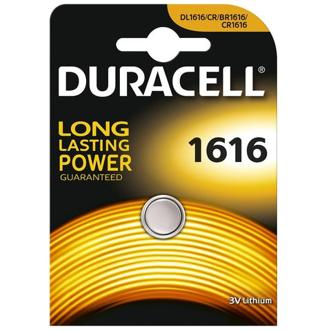 Duracell Lithium Coin CR1616 3v Battery - Pack of 1