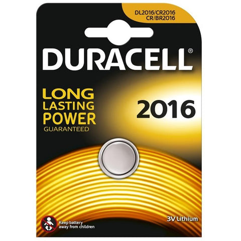 Duracell Lithium Coin CR2016 3v Battery - Pack of 1