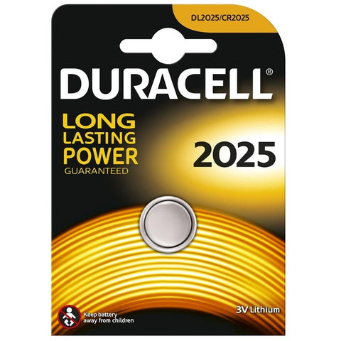 Duracell Lithium Coin CR2025 3v Battery - Pack of 1