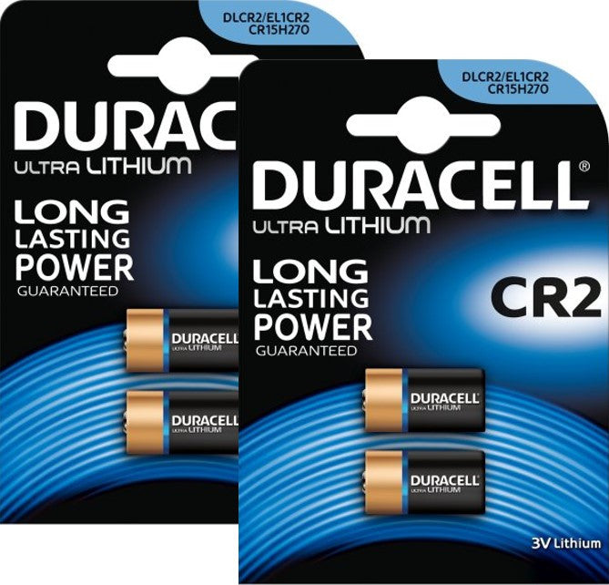 Duracell Photo Lithium CR2 3v Battery - Pack of 4 - Battery Warehouse UK | Free UK Delivery on all Orders
