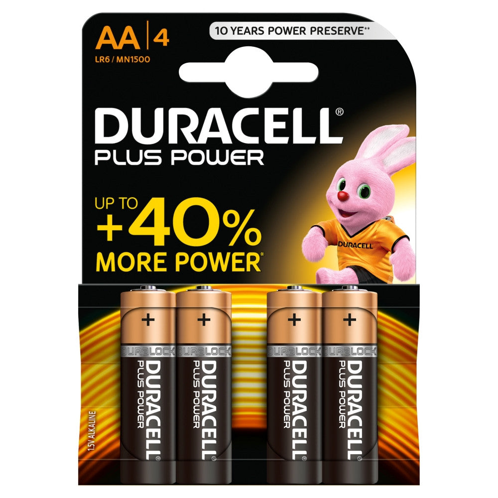 Duracell Plus Power AA 1.5v Battery - Pack of 4