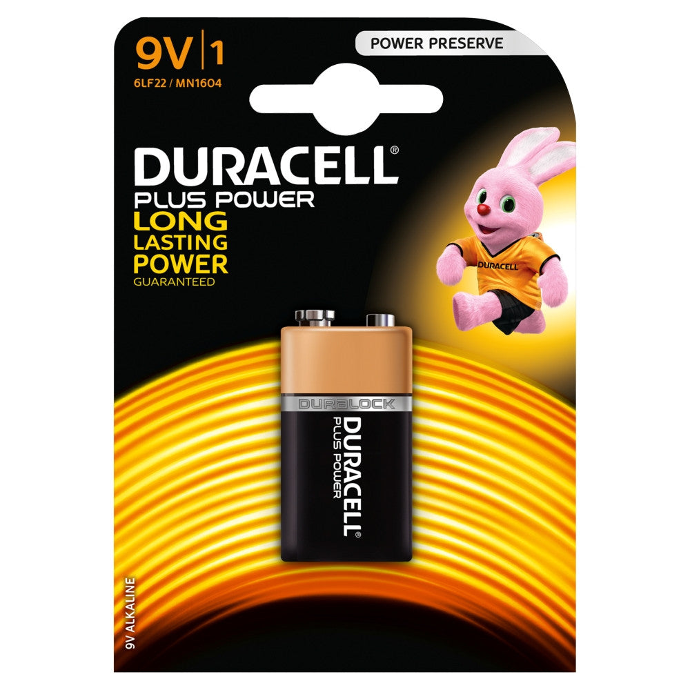 Duracell Plus Power 9v Battery - Pack of 1 - Battery Warehouse UK | Free UK Delivery on all Orders
