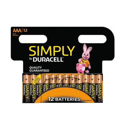 Bulk Duracell Simply Batteries - 12 Pack - Battery Warehouse UK | Free UK Delivery on all Orders
