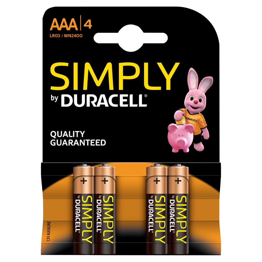 Duracell Simply AAA 1.5 v Battery - Pack of 4