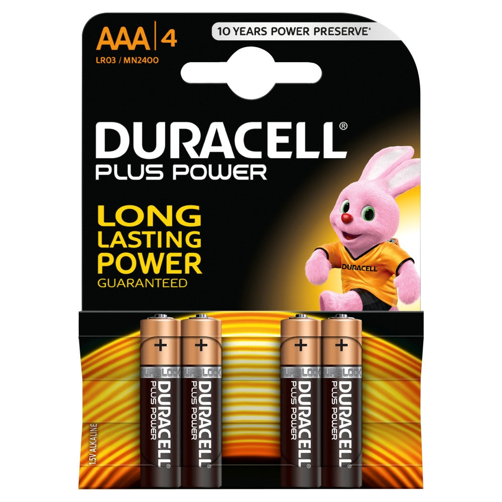 Duracell Plus Power AAA 1.5v Battery - Pack of 4