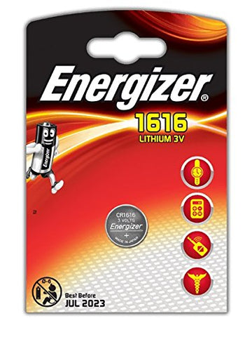 Energizer Lithium Coin CR1616 3v Battery - Pack of 1 - Battery Warehouse UK | Free UK Delivery on all Orders