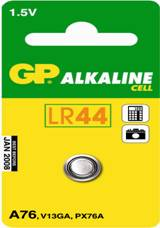GP Alkaline LR44 1.5v Battery - Pack of 1 | A76 - Battery Warehouse UK | Free UK Delivery on all Orders