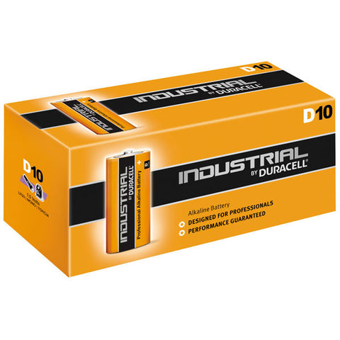 Duracell Industrial Alkaline D 1.5v Battery - Pack of 10 - Battery Warehouse UK | Free UK Delivery on all Orders