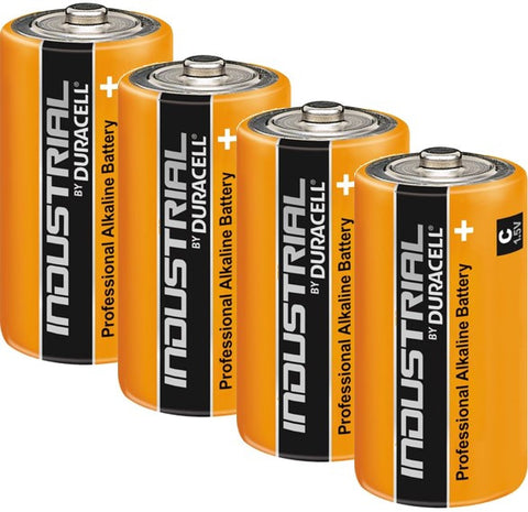 Duracell Industrial Alkaline C 1.5v Battery - Pack of 4