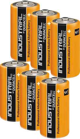 Duracell Industrial Alkaline C 1.5v Battery - Pack of 6