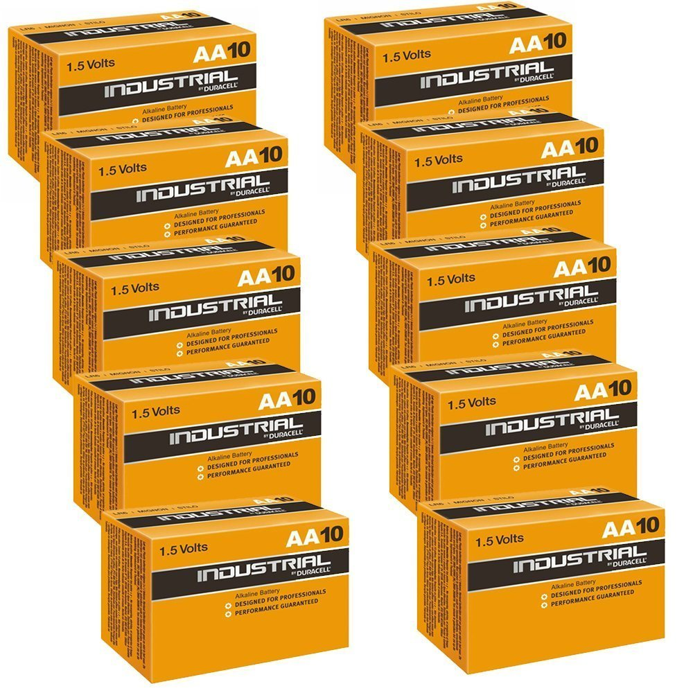 Duracell Industrial Alkaline AA 1.5v Battery - Pack of 100 - Battery Warehouse UK | Free UK Delivery on all Orders