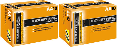 Duracell Industrial Alkaline AA 1.5v Battery - Pack of 20