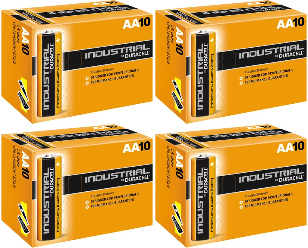 Duracell Industrial Alkaline AA 1.5v Battery - Pack of 40 - Battery Warehouse UK | Free UK Delivery on all Orders