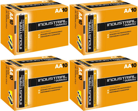 Duracell Industrial Alkaline AA 1.5v Battery - Pack of 40 - Buy Battery Warehouse UK | Free UK Delivery on all Orders