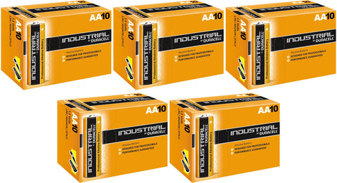 Duracell Industrial Alkaline AA 1.5v Battery - Pack of 50