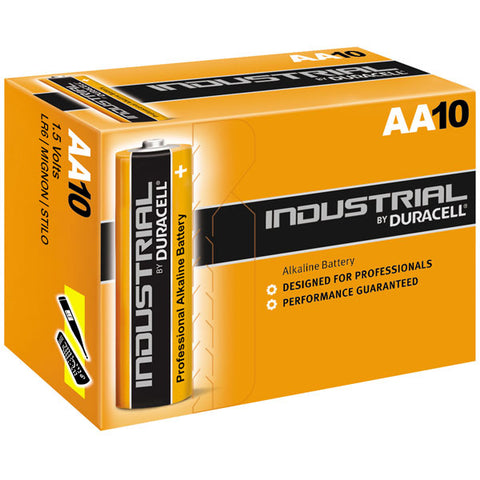Duracell Industrial Alkaline AA 1.5v Battery - Pack of 10