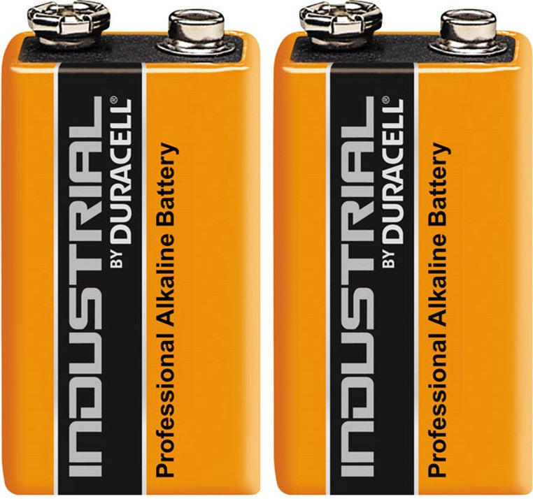 Duracell Industrial Alkaline 9v Battery - Pack of 2
