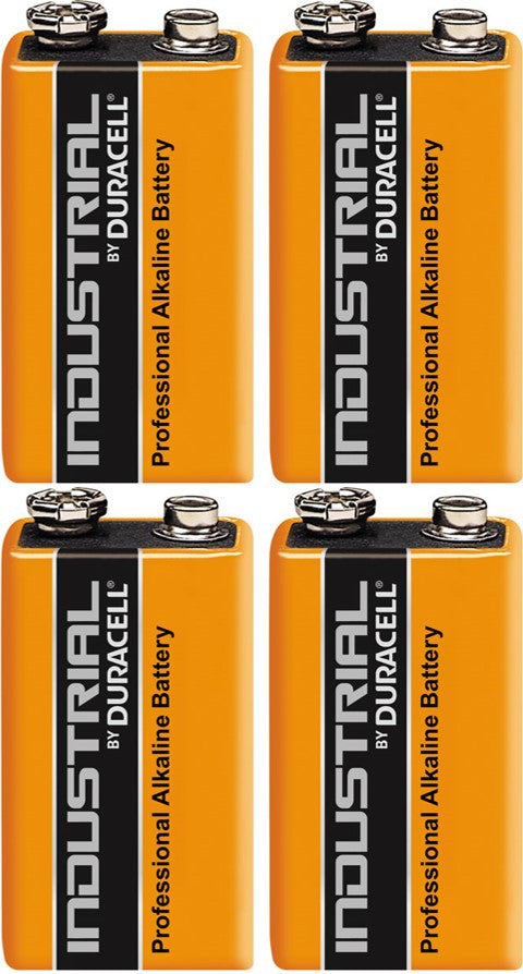 Duracell Industrial Alkaline 9v Battery - Pack of 4