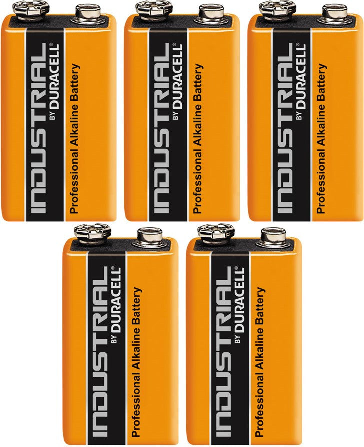 Duracell Industrial Alkaline 9v Battery - Pack of 5 - Battery Warehouse UK | Free UK Delivery on all Orders