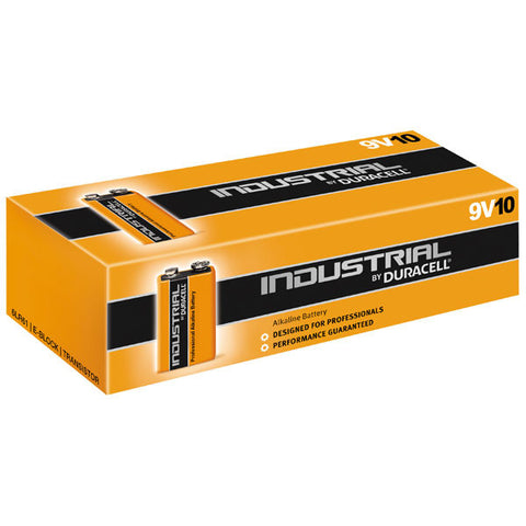 Bulk Industrial by Duracell 9v Alkaline Battery - Pack of 10 | 6LR61 ID1604 MN1604 - Battery Warehouse UK | Free UK Delivery on all Orders