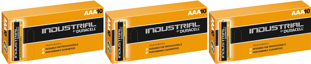 Duracell Industrial Alkaline AAA 1.5v Battery - Pack of 30
