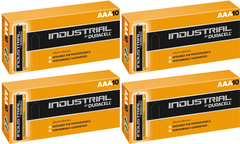 Duracell Industrial Alkaline AAA 1.5v Battery - Pack of 40