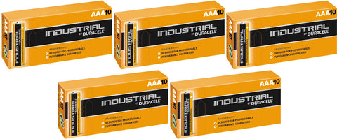 Duracell Industrial Alkaline AAA 1.5v Battery - Pack of 50