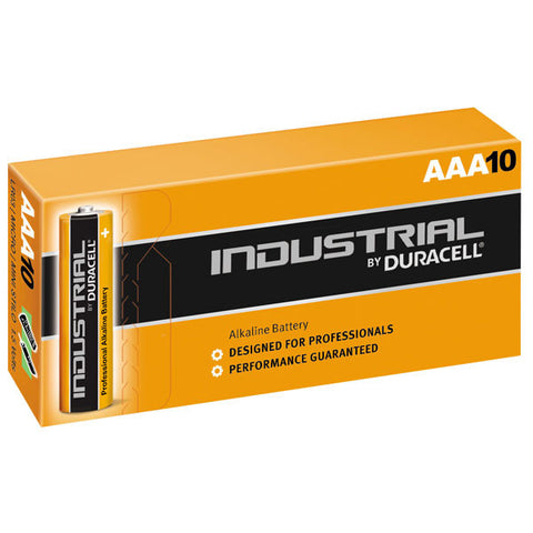 Duracell Industrial Alkaline AAA 1.5v Battery - Pack of 10