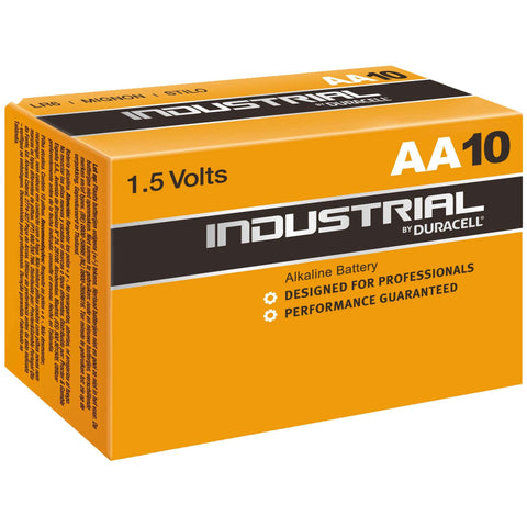 Bulk Industrial by Duracell AA 1.5v Alkaline Battery - Pack of 10 | LR6 ID1500