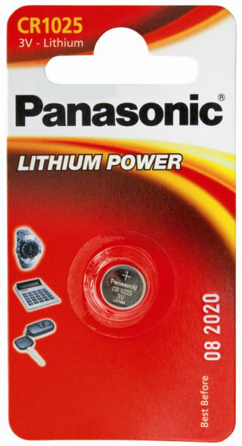Panasonic Lithium Coin CR1025 3v Battery - Pack of 1 - Battery Warehouse UK | Free UK Delivery on all Orders
