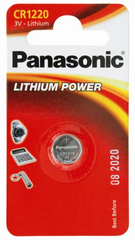 Panasonic Lithium Coin CR1220 3v Battery - Pack of 1 - Battery Warehouse UK | Free UK Delivery on all Orders