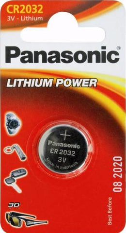 Panasonic Lithium Coin CR2032 3v Battery - Pack of 1 - Battery Warehouse UK | Free UK Delivery on all Orders