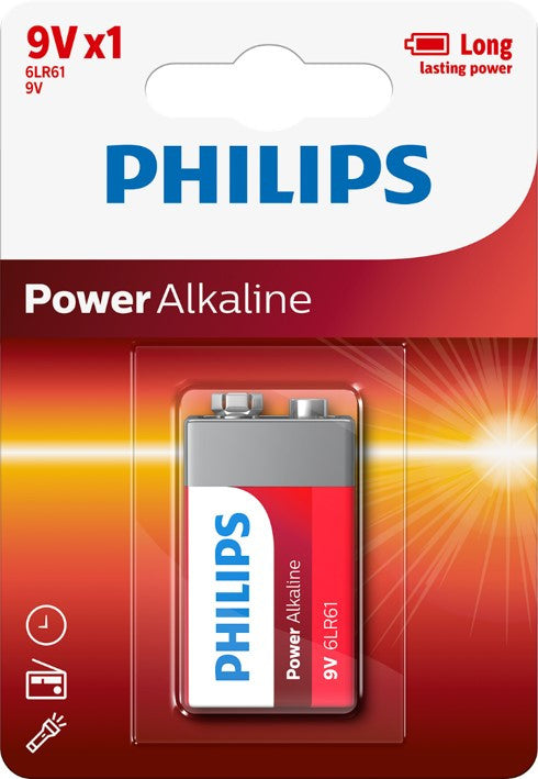 Philips Power Alkaline 9v Battery - Pack of 1 - Battery Warehouse UK | Free UK Delivery on all Orders