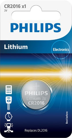Philips Lihtium Coin CR2016 Battery - Pack of 1