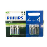 Philips LongLife AAA (Pack of 8) - Expires June 2018 - Battery Warehouse UK | Free UK Delivery on all Orders