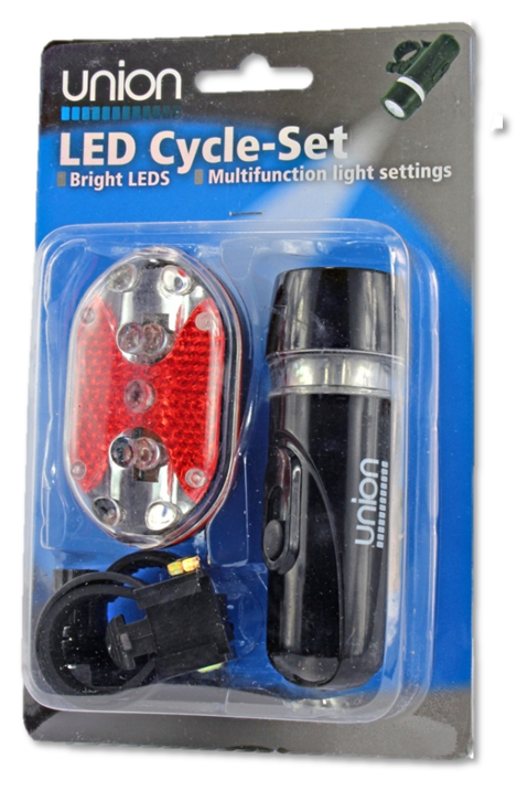 Union LED Cycle Set - Battery Warehouse UK | Free UK Delivery on all Orders
