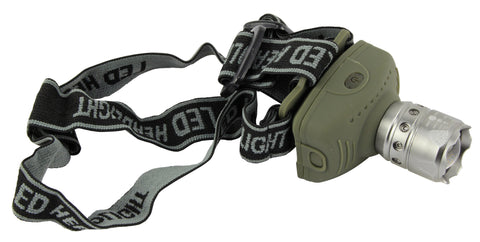 Union 1W LED Zoom Head Torch