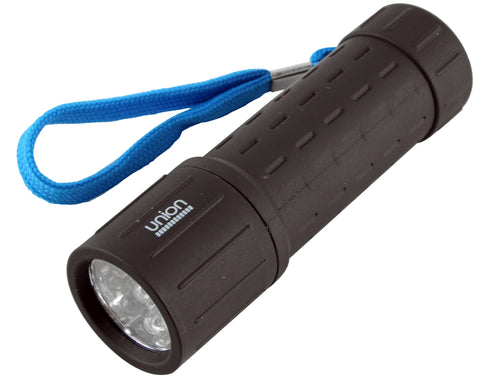 Union 9 LED Rubber Barrel Torch - Battery Warehouse UK | Free UK Delivery on all Orders