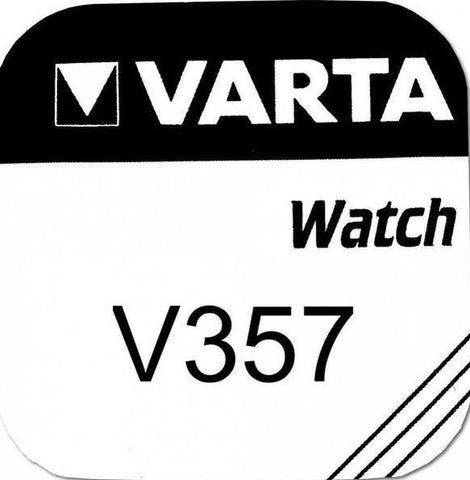 Varta Silver Oxide 357 Watch Battery - Pack of 1