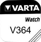 Varta Silver Oxide 364 Watch Battery - Pack of 1