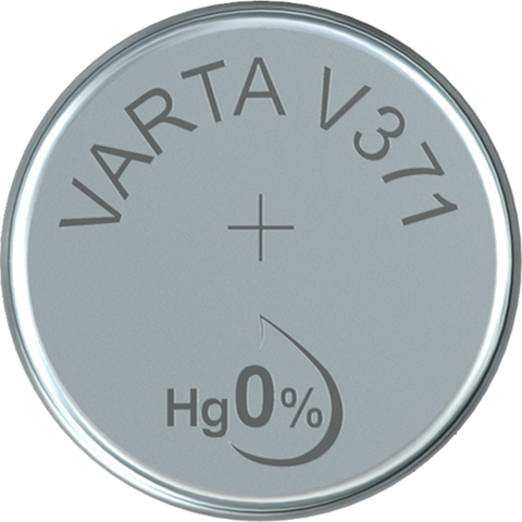 Varta Silver Oxide 371 Watch Battery - Pack of 1 - Battery Warehouse UK | Free UK Delivery on all Orders