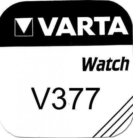 Varta Silver Oxide 377 Watch Battery - Pack of 1