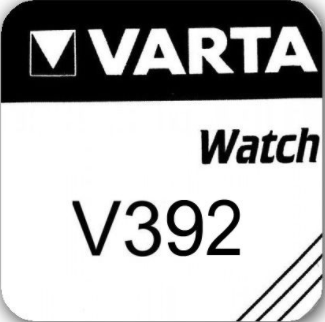 Varta Silver Oxide 392 Watch Battery - Pack of 1