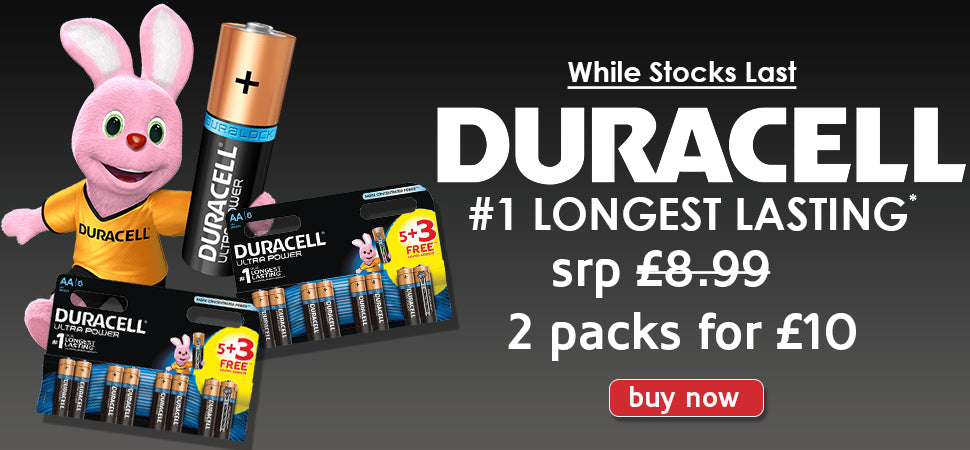 Duracell Ultra Power Promo Pack 5 + 3  | Battery Warehouse - Free UK Delivery