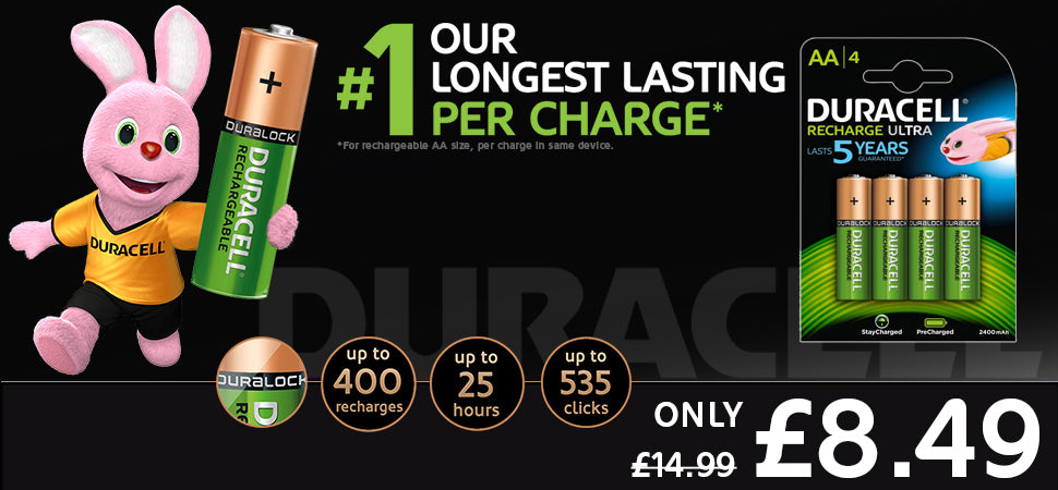 Duracell AA Rechargeable Batteries - Only £7.95 | Free UK Delviery