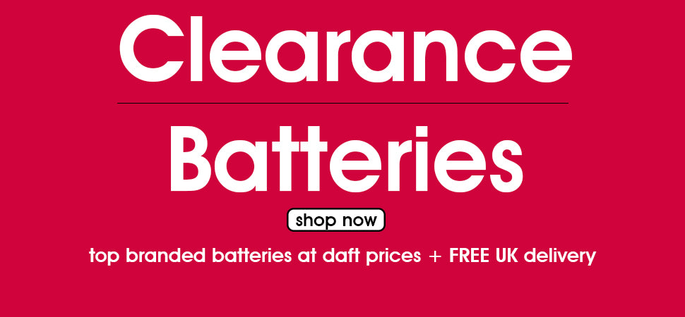 Clearance Batteries - Top Brands at daft prices and free delivery