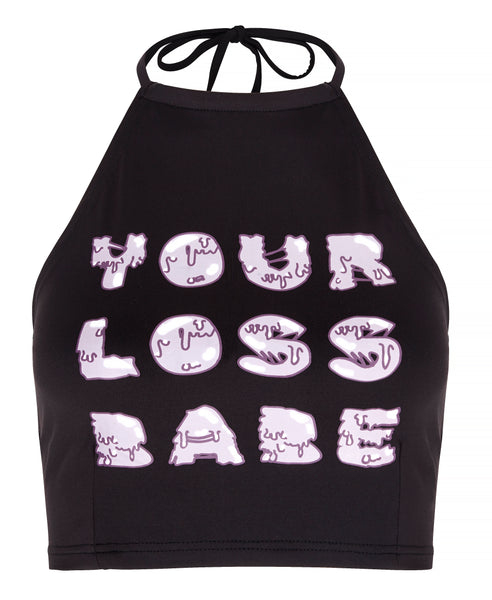 Your Loss Babe Crop Halterneck